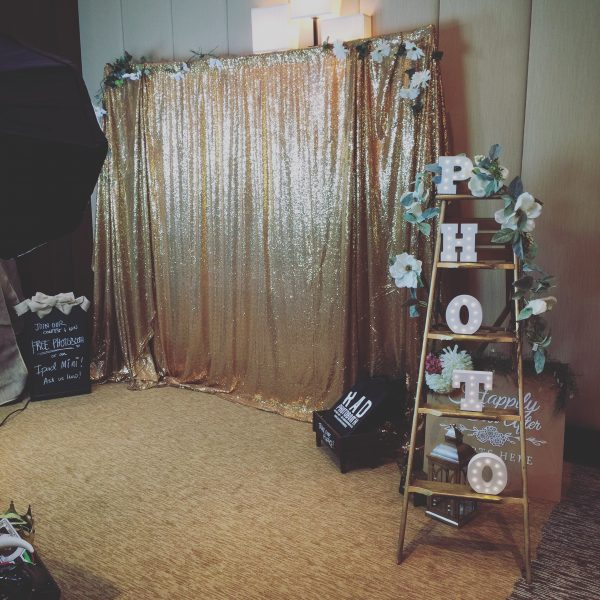 Gold Sequin Backdrop For Rent