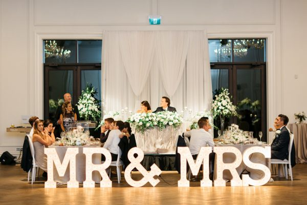 Large MR & MRS Marquee Letters