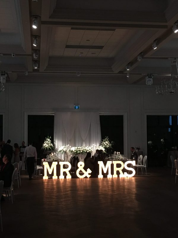 Mr & Mrs Marquee Light Up Letters