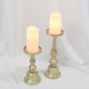 Pillar Gold Candle Holders