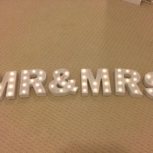 MR & MRS Marquee Letter