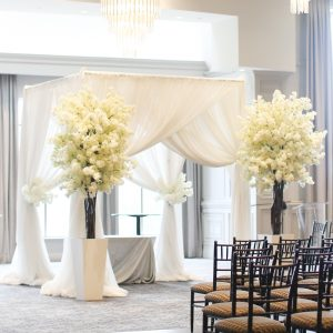 White Drapery Chuppah Backdrop