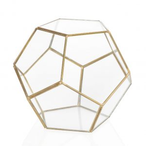 Gold Terrarium Centrepiece Candle Holder Rental Toronto