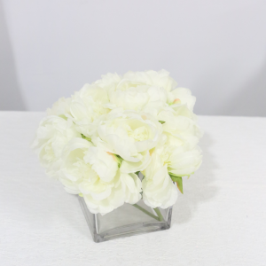 White Silk Flower Arrangement
