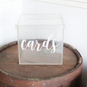 Clear Card Box Acrylic Rental