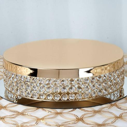 Helen Gold Beaded Cake Stand