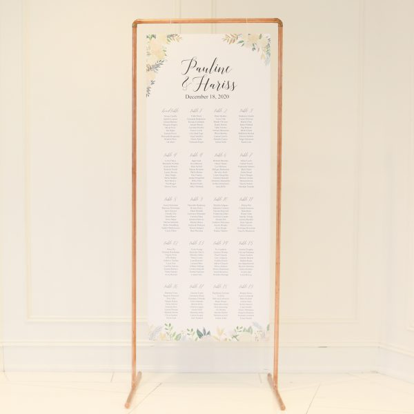 Seating Chart Copper Arch