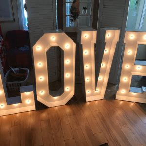 Huge LOVE Marquee Letters
