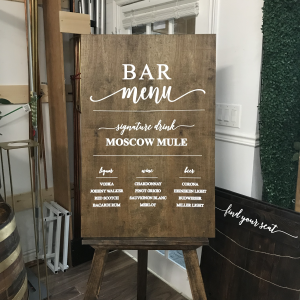 bar menu wooden rustic