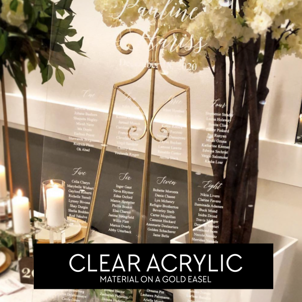 Clear Acrylic Seating Chart