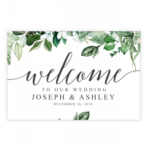 Lush Greenery Welcome Sign