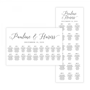 Black and White Minimalist Seating Chart