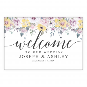 Yellow Vintage Welcome Sign