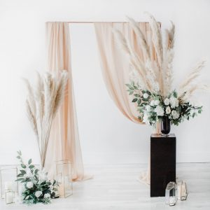 Pampas Boho Backdrop Wedding