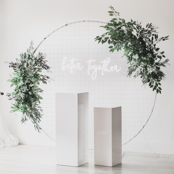 Better Together Neon Sign Arch Wedding