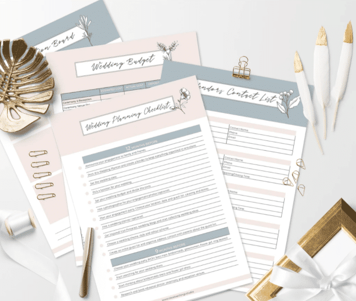 Studio Creative Things Wedding Planning Checklists and Templates
