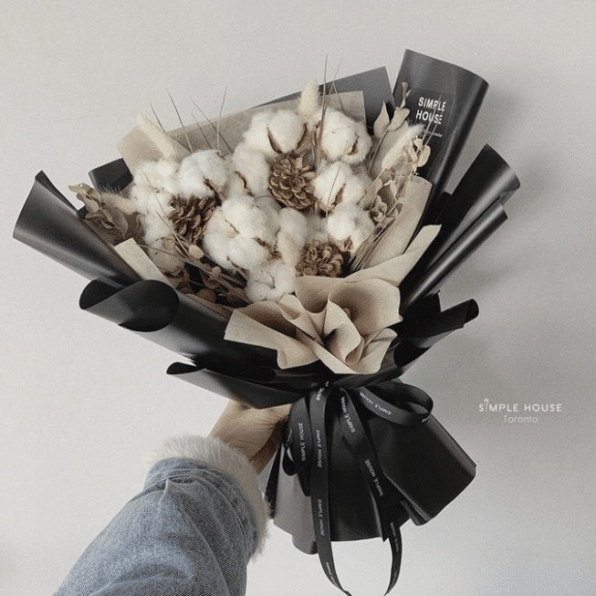 dried hand-tied bouquet