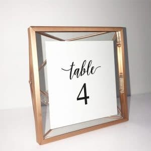 Table Top: Table Numbers