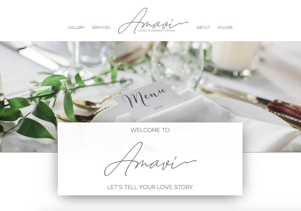 web designers for wedding planners